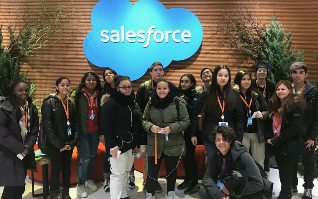 Brooklyn Collaborative Student-Interns Visit Salesforce