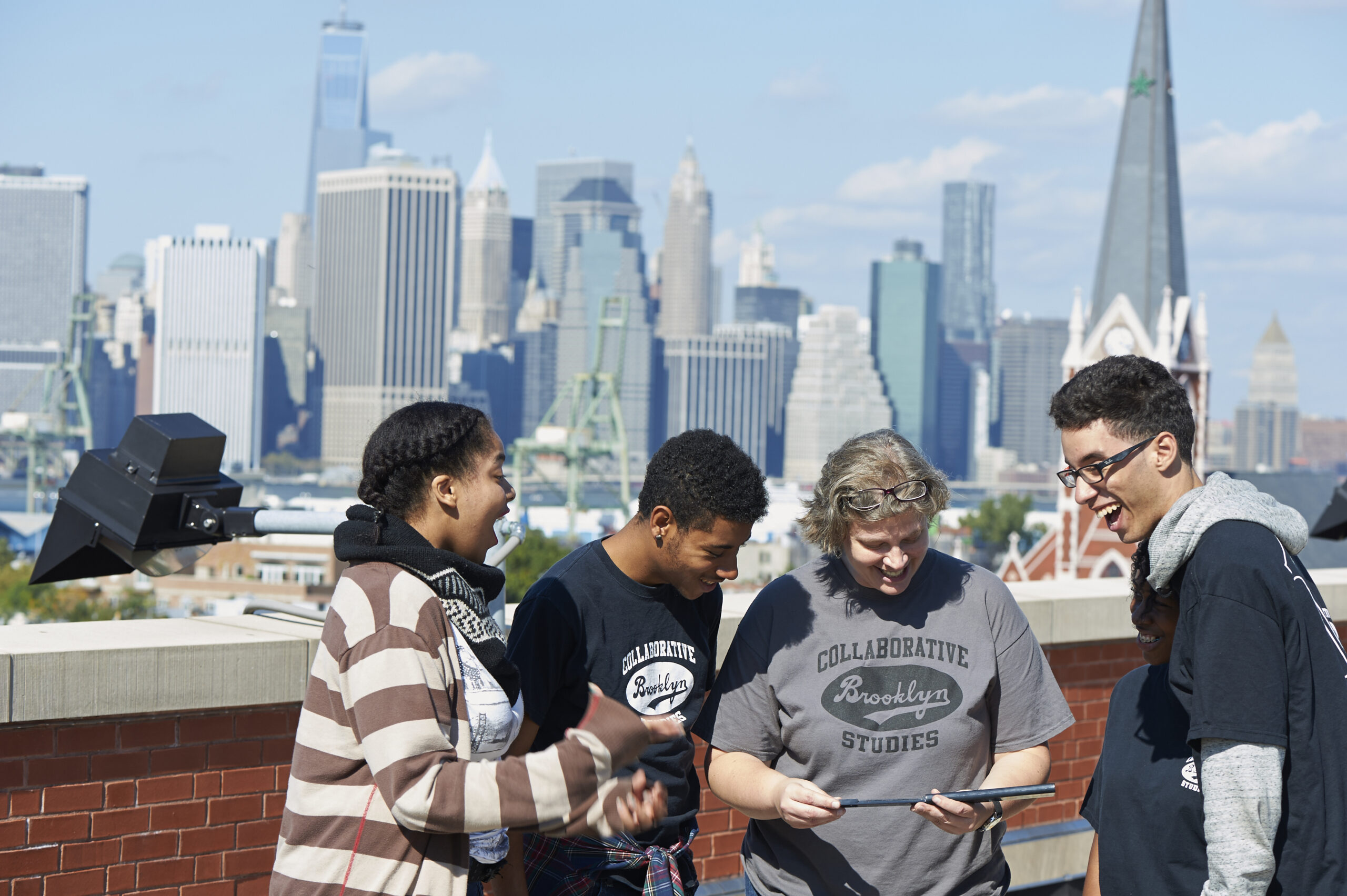 Students at Brooklyn Collaborative learn outside.